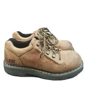 Caterpillar Steel Toe Safety Work Shoes Oxford Men